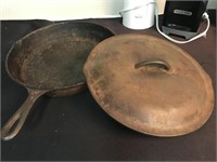Vintage Cookbooks, Cast Iron Skillet & More