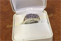 Sterling Silver Tanzanite Ring 1.10 CTW Size