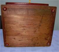 "Antique Mahogany Keep Sake Box 16"" W 13.5"" D 8.5""T"