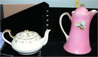 Czechoslovakia & German Tea Pots set of 2