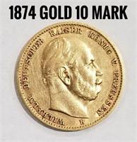 1874 10 Mark Gold