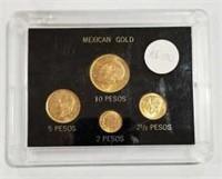 Mexico Gold Type Coin Set