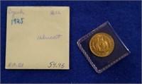 1925 Gold Czech/dukat