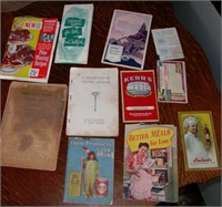 Early 1900's Cook Books Lot