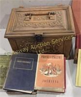 Vintage Books in Plastic Box