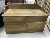 Wooden toy chest / bench