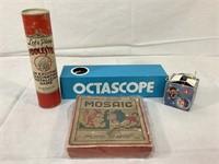Fiddlesticks, yo-yo,octascope, vintage toys & more