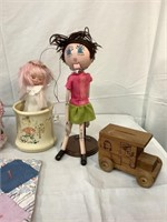 Collection of vintage toys, piggy banks & more