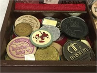 Vintage Tokens in Box & More - Large Lot