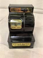Vintage Uncle Sam's 3 Coin Register Bank