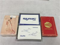 Various airline card sets, Continental & more