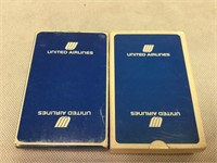 United Airlines decks of cards