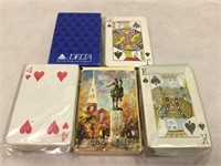 Delta Airlines decks of cards