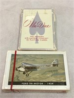 TWA decks of cards