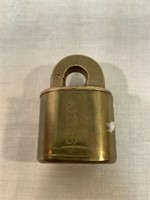 Letter box locks, vintage brass