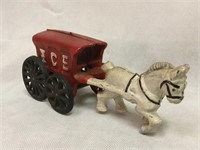 Cast iron ice wagon
