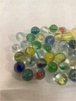 Assortment of vintage marbles
