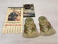 1929 calendar, vintage advertising pamplets