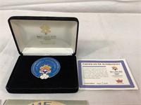 2002 Olympic games pin set w/coa & vintage