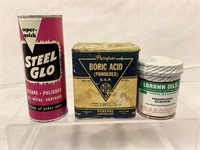 Collection of vintage tins & containers of house