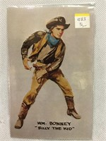 Collection of vintage Billy The Kid post cards