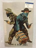 Collection of vintage Frank & Jessie James post cs