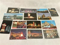 Large selection of vintage Las Vegas post cards