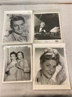 Large selection of autographed lobby cards