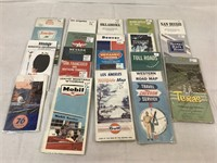 Assortment of vintage city maps