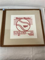 Kirby Puckett Autograph Twins 1987 Framed Art