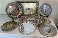 Collection of Silverplated Serving Pieces
