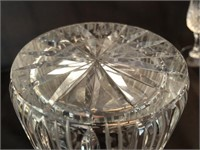 Lead Crystal Pitcher, Champagne & Cordial Glasses