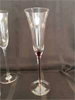 Crystal and Glass Champagne Flutes