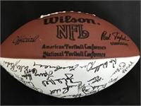 Ed Bradley Autographed Game Football