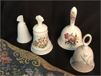 Tapestry Bell Pull and Porcelain Bells