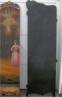 4 Panel Hand Painted Divider Screen  Needs Screws