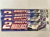 Rusty Wallace #2 NASCAR Racing Bumper Stickers