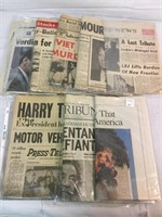 Vintage Newspapers- World Altering Events