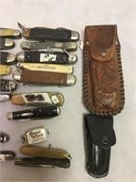 Vintage Assorted Pocket Knives and More