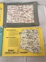 Coors Colorful Maps CO,OK,AZ,TX
