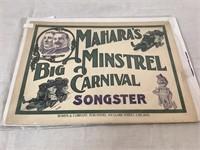 Mahara's Big Minstrel Carnival Songster