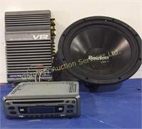 Alpine 2/1 Channel Power Amplifier, Pioneer Car...