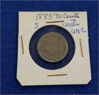 "1883 Us Liberty Head ""v"" Nickel"