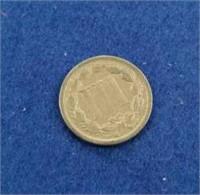 1865 Us Three Cent Piece