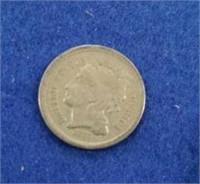 1868 Us Three Cent Piece