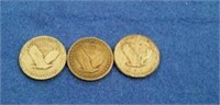1917, 1925, & 1930 Standing Liberty Quarters