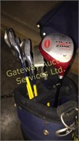 Set of Junior Golf Clubs with Balls & Tees,