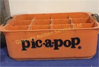"""Vintage Tin Cans, Plastic """"Pick. A. Pop Carrying.."""