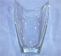 "Mikasa Lead Crystal Vase 14"" Tall Czech Republic"