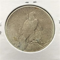 1934 S PEACE DOLLAR  VF